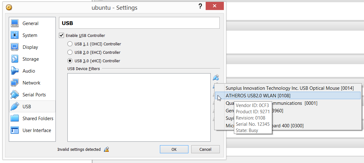 Connecting USB devices to VirtualBox using USB 3 0 ports